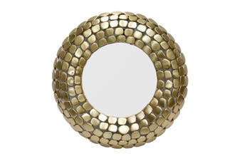 STONE Large 61cm Round Wall Mirror - Matte Brass