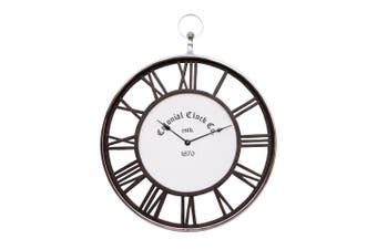 COLONIAL CLOCK CO Large 60cm Dark Wood Wall Clock