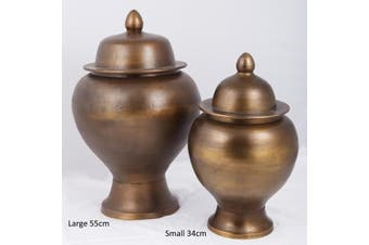 ZANZIBAR Small 34cm Ginger Pot - Bronze