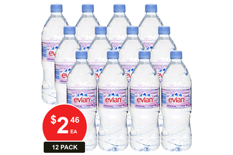 EVIAN 1L NATURAL SPRING WATER