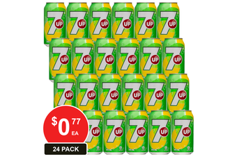 SCHWEPPES 375ML 7UP CANS