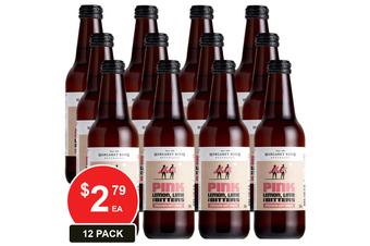 MARGARET RIVER 330ML SOFT DRINK PINK LEMON LIME AND BITTERS