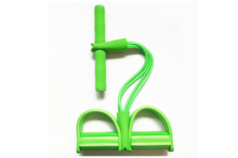 Pedal Resistance Band With Handle Elastic Pull Rope Foot Pedal Expander For Slimming Training Green