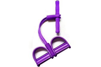 Pedal Resistance Band With Handle Elastic Pull Rope Foot Pedal Expander For Slimming Training Purple