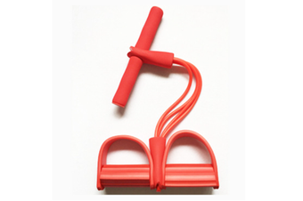 Pedal Resistance Band With Handle Elastic Pull Rope Foot Pedal Expander For Slimming Training Red