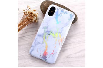 Marble Design Case For Iphone Colorful Printed Soft Tpu Shockproof Protective Shell White Iphone Xr