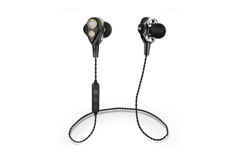 Four Speakers Double Moving Ring 6D Surround Wireless Bluetooth Headset Black