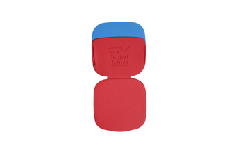 2PCS Can Carry Dust Removal Stickers Washable Clotheshair Remover and Brush-Red Blue