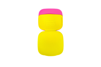 2PCS Can Carry Dust Removal Stickers Washable Clotheshair Remover and Brush-Yellow Pink