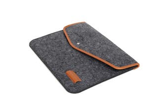 """15 Inch Wool Leather laptop Sleeve Bag For Laptop Macbook Pro/Air 15"""" DARK GREY COLOR"""