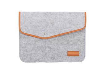 """15 Inch Wool Leather laptop Sleeve Bag For Laptop Macbook Pro/Air 15"""" LIGHT GREY COLOR"""