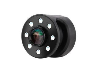 XJ-08 Clip-on 0.65X Wide Angle Fish Eyes Lens Selfie Fill light 8 LED Bulbs for Iphone Samsung BLACK COLOR