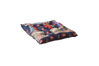 40 x 40cm Soft Thicken Cushion Buttocks Chair Cushion Linen Outdoor Square Cotton Seat Pad Decoration Ethnic Style Fabric Cotton Padded Dining Chair Cushion Breathable Square Printed Tatami Mat