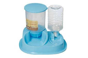 Pet Water Dispenser Drinking Bottle Automatic Food Feedersfor Pets Dogs Cats Pet Smart Feeder BLUE COLOR