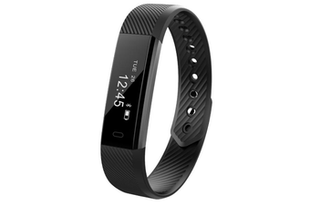 ID115HR 0.86'' inch Heart Rate Monitor Smart Watch BLACK COLOR