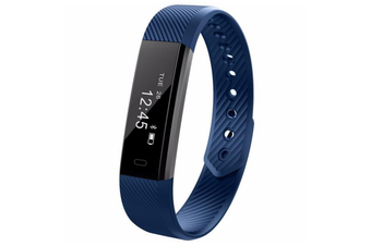 ID115HR 0.86'' inch Heart Rate Monitor Smart Watch BLUE COLOR