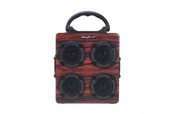 12W bluetooth Speaker Wireless Stereo Four Louder Subwoofer Wooden Audio Desktop TF AUX Sound Box Music Player