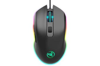 A866 6400DPI Optical RGB Backlit 6 Buttons USB Wired Gaming Mouse for PC Laptop
