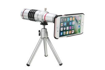 18X Optical Zoom Telescope Camera Lens Tripod Kit And Back Case Cover For iPhone 7