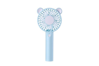 WT-016 Little Bear Mini USB Fan with Colorful Light Mode Handheld Small Fan Portable Air Cooler Silent Cooling Fan For Home Office Student Dormitory Outdoors Travelling