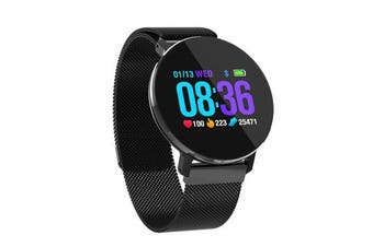 T5 Ultra Thin Design Smart Watch Dynamic Heart Rate Monitor Full Steel Business Watch BLACK COLOUR