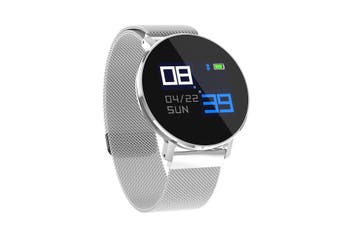 T5 Ultra Thin Design Smart Watch Dynamic Heart Rate Monitor Full Steel Business Watch SILVER COLOUR