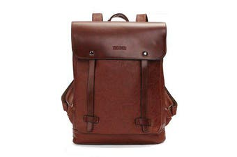 Men Women Vintage Backpack PU Leather Laptop bags School Bag Shoulder Bags BROWN COLOUR