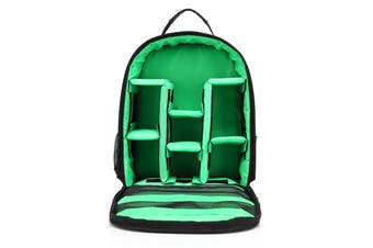 Shockproof Waterproof DSLR SLR Camera Backpack Shoulder Bag Case for Canon Nikon green