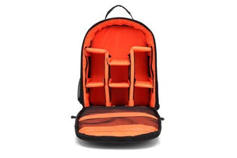 Shockproof Waterproof DSLR SLR Camera Backpack Shoulder Bag Case for Canon Nikon orange