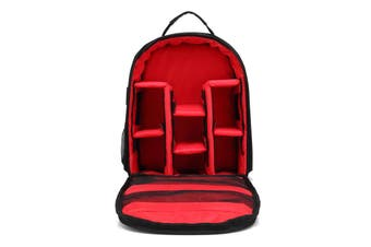 Shockproof Waterproof DSLR SLR Camera Backpack Shoulder Bag Case for Canon Nikon red