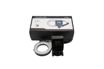 RF-550D 48pcs Macro LED 3000-15000K Ring Flash Light with 8 Adapter Ring for Canon for Nikon for Pentax for Olympus for Panasonic DSLR Camera