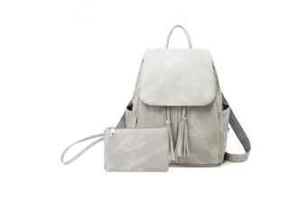 Women'S Shoulder Bag Fashionable Leather Cute Mini Backpack Wallet Grey