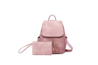 Women'S Shoulder Bag Fashionable Leather Cute Mini Backpack Wallet Pink