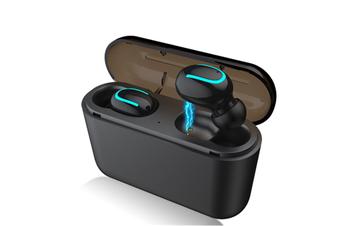 Bluetooth 5.0 Earphones TWS Wireless Headphone IPX5 Waterproof Earbuds Deep bass Sports Stereo Headset-BLACK