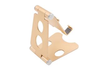 Aluminum Alloy Mobile Phone Holder Adjustable Desktop Mobile Phone Folding Bracket-Gold