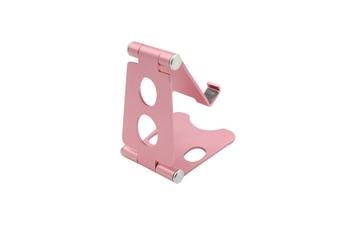 Aluminum Alloy Mobile Phone Holder Adjustable Desktop Mobile Phone Folding Bracket-Pink