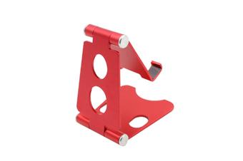 Aluminum Alloy Mobile Phone Holder Adjustable Desktop Mobile Phone Folding Bracket-Red