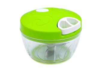 Manual Hand-held Food Chopper for Vegetable Fruits Nuts Onions Chopper Hand Pull Mincer Blender Mixer Food Processor-Green
