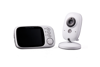 3.2-inch Digital Wireless Baby Monitor with Two-way Intercom with Temperature Display and Music Playback