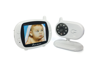 3.5-Inch Wireless Digital Baby Monitor with Night Vision Lullaby Room Temperature Monitoring and Two-way Intercom