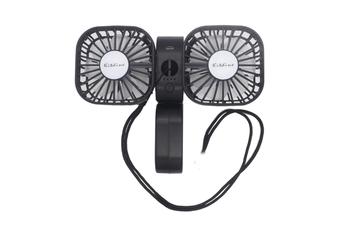 Multifunctional Folding Storage Type Handheld Fan Hanging Neck Fan USB Small Fan Lazy Hanging Neck Fan-Black