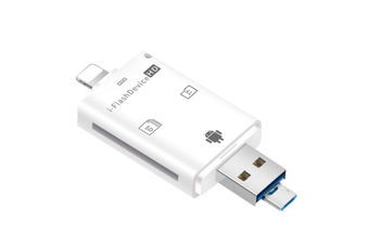 3 In 1 Mobile Phone Card Reader Multi-function TF Camera Card SD Card OTG Card Reader for Apple Android Phones