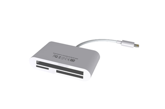Multi-function 5 In 1 Mobile Phone Card Reader USB Charging Multi-in 1 OTG Card Reader for IPhone