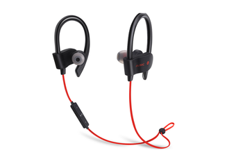 Sport Wireless Headphones Noise Cancelling In-Ear Earphones For Running Gym Sweatproof Secure Fit Red