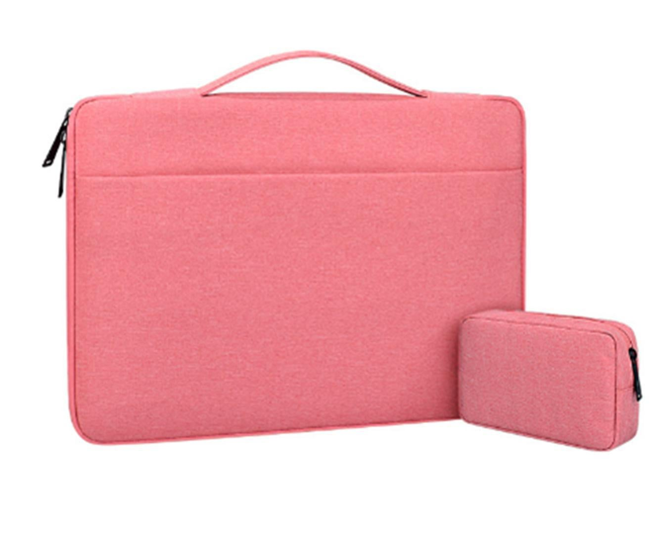 14.1 Inch Waterproof and Wear-resistant Laptop Bag Notebook Liner Bag Business Exhibition Bag-33#-Pink