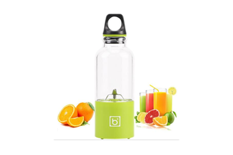 Multi-function 500mL 4 Blades USB Electric Fruit Juicer Smoothie Maker Blender Juice Bottle Cup Machine-YELLOW