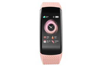 1.08inch Color Screen Blood Pressure Heart Rate Monitor Sport Bluetooth Smart Wristband Watch-PINK