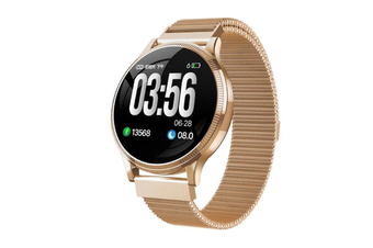 1.22inch Color Screen Blood Pressure Heart Rate Monitor Sport Bluetooth Smart Wristband Watch-GOLD