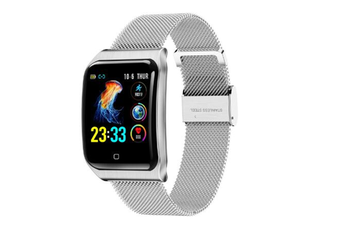 1.3inch Color Screen Blood Pressure Heart Rate Monitor Sport bluetooth Smart Wristband Watch-SILVER