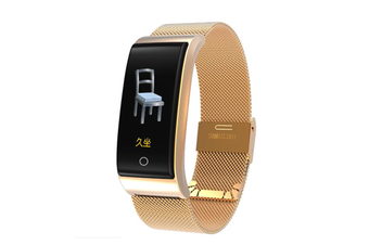 0.96inch Color Screen Blood Pressure Heart Rate Monitor Sport bluetooth Smart Wristband Watch-GOLD